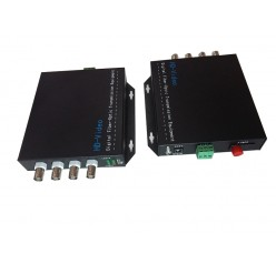 4 Channel RG59 Full HD Fiber Optic Converter